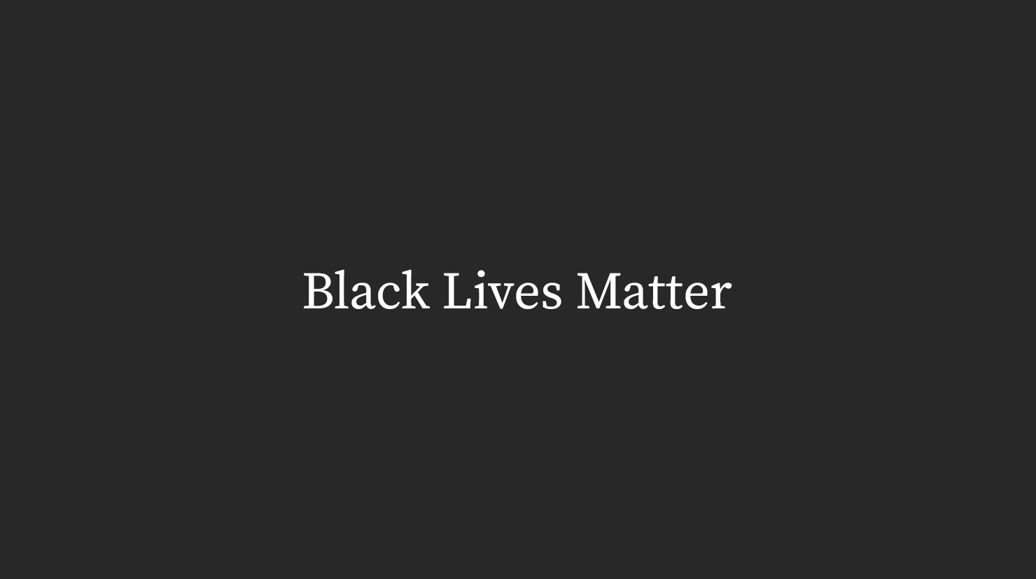 We stand with black playwrights and theater artists.
